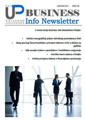 Newsletter broj 46 - Januar 2017